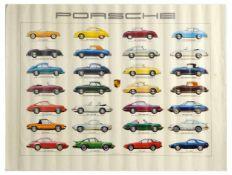 Advertising Poster Porsche Production Sports Cars Ken Rush 911