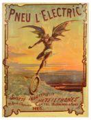 Advertising Poster Pneu Electric Devil Wings Paris France