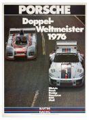 Sport Poster Porsche Doppel Weltmeister Double World Cup Win