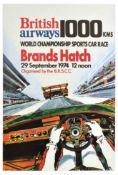 Advertising Poster British Airways Brands Hatch 1000km Endurance Sports Car