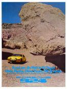 Sport Poster Porsche 924 Around the World Reliability Test Lins Plattner