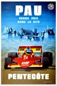 Sport Poster Grand Prix Motor Racing Pau France 1977