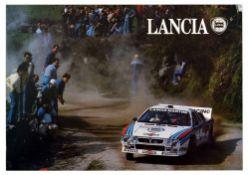 Advertising Poster Lancia Martini Rally Race Motorsports