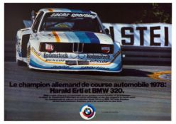 Advertising Poster BMW 320 Germany Champion Harald Ertl