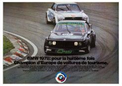 Advertising Poster BMW Europe Champion Touring Car Motor Racing
