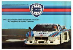 Sport Poster Lancia World Endurance Championship