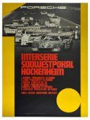 Sport Poster Porsche 917 Interserie Sudwestprokal Hockenheim Shell Bosch Goodyear Bilstein