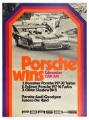 Advertising Poster Porsche 917 Wins Edmonton CanAm Goodyear Canada