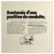 Advertising Poster BMW Coupe Comfort Adjustment Pleasure of Driving