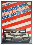 Advertising Poster Porsche 917 Wins Road America CanAm Sunoco Goodyear Audi
