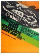Advertising Poster Porsche 917 Wins Riverside CanAm Sunoco Goodyear Audi