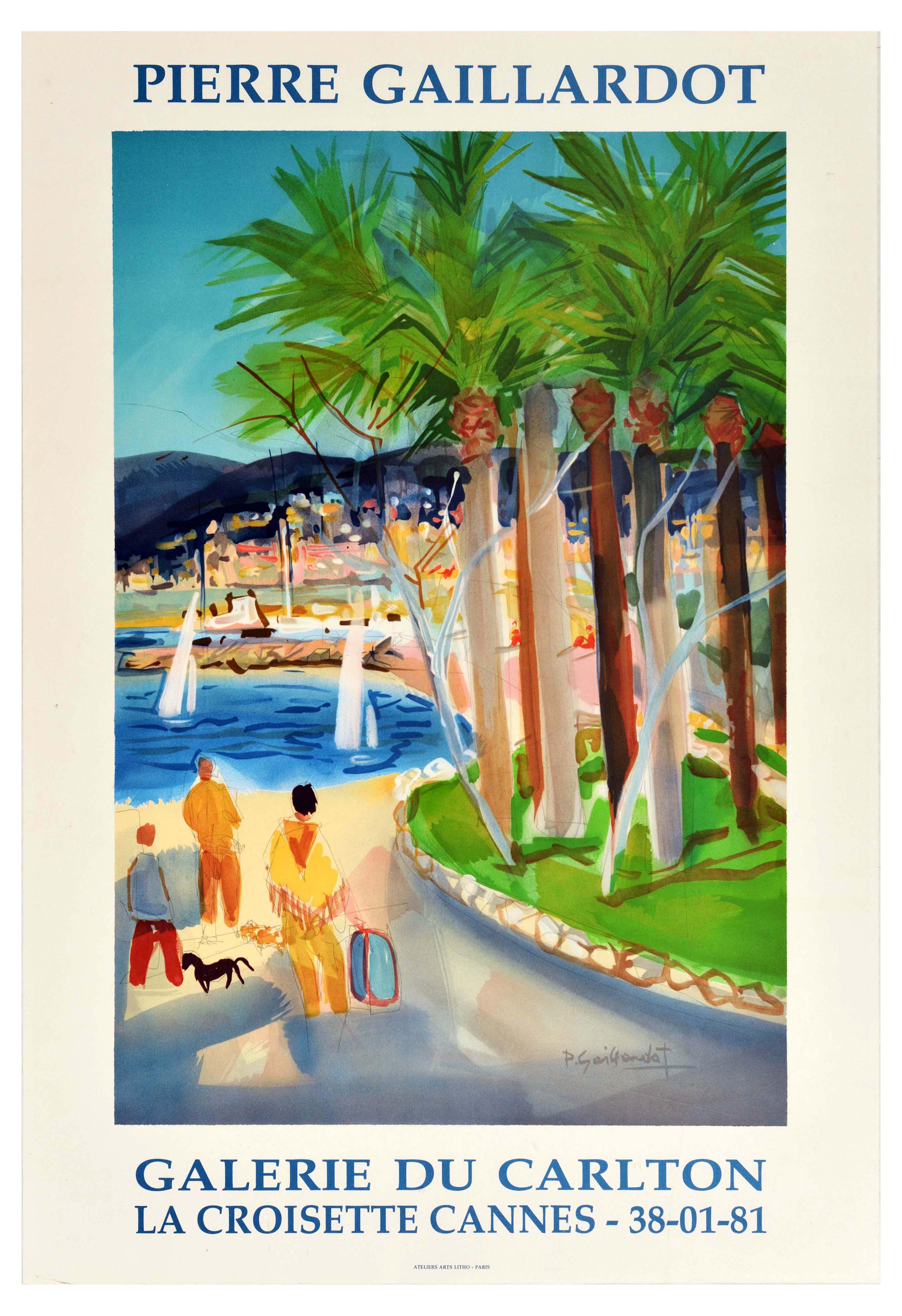 Advertising Poster Cannes France Pierre Gaillardot La Croisette