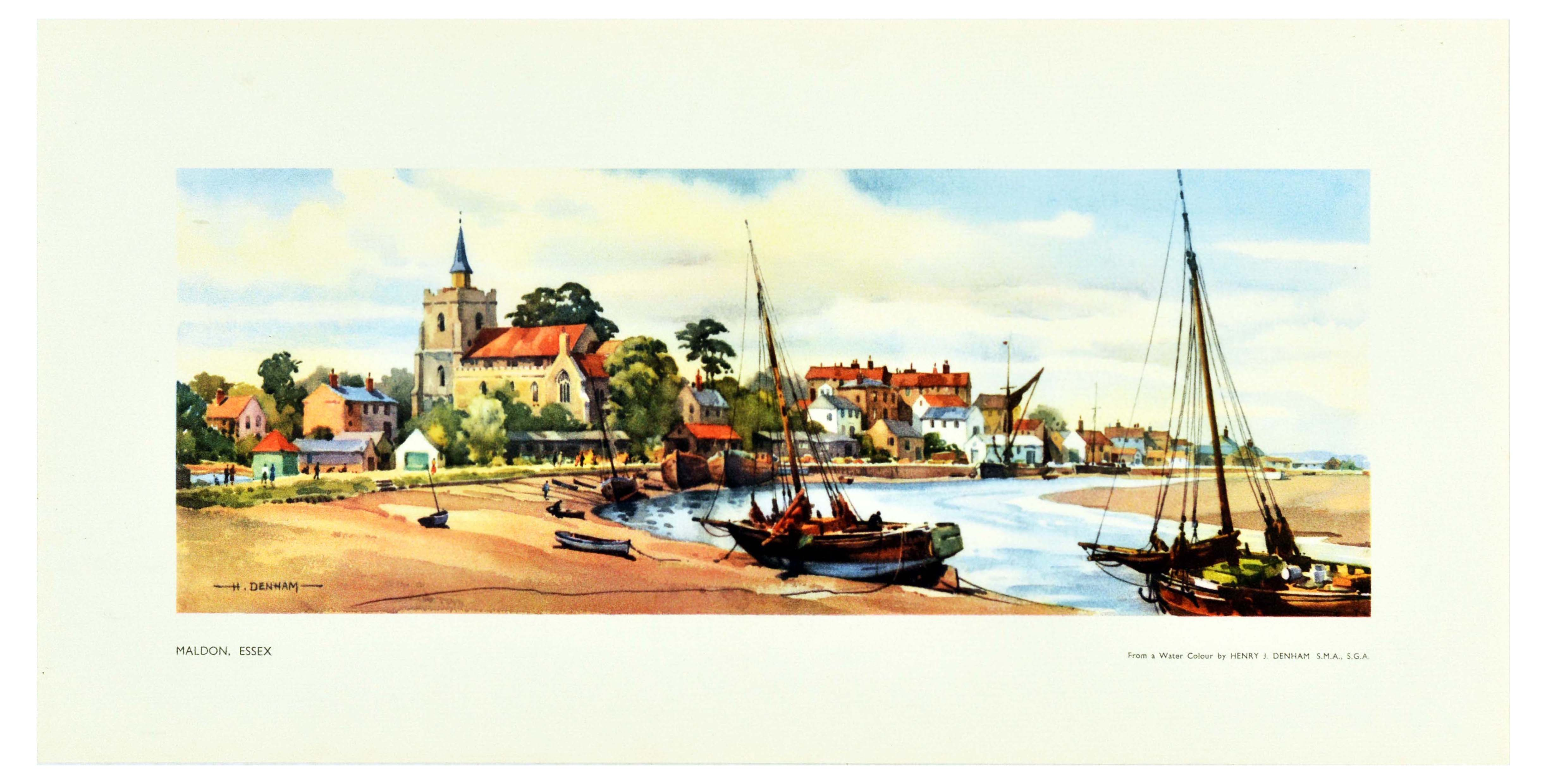 Set Travel Posters LNER Yorkshire Suffolk Essex Ilkley - Image 3 of 4