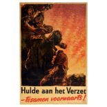 War Poster Netherlands WWII Resistance Dutch Fighters USA