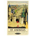Travel Poster St Andrews British Railways Gilbert Dunlop
