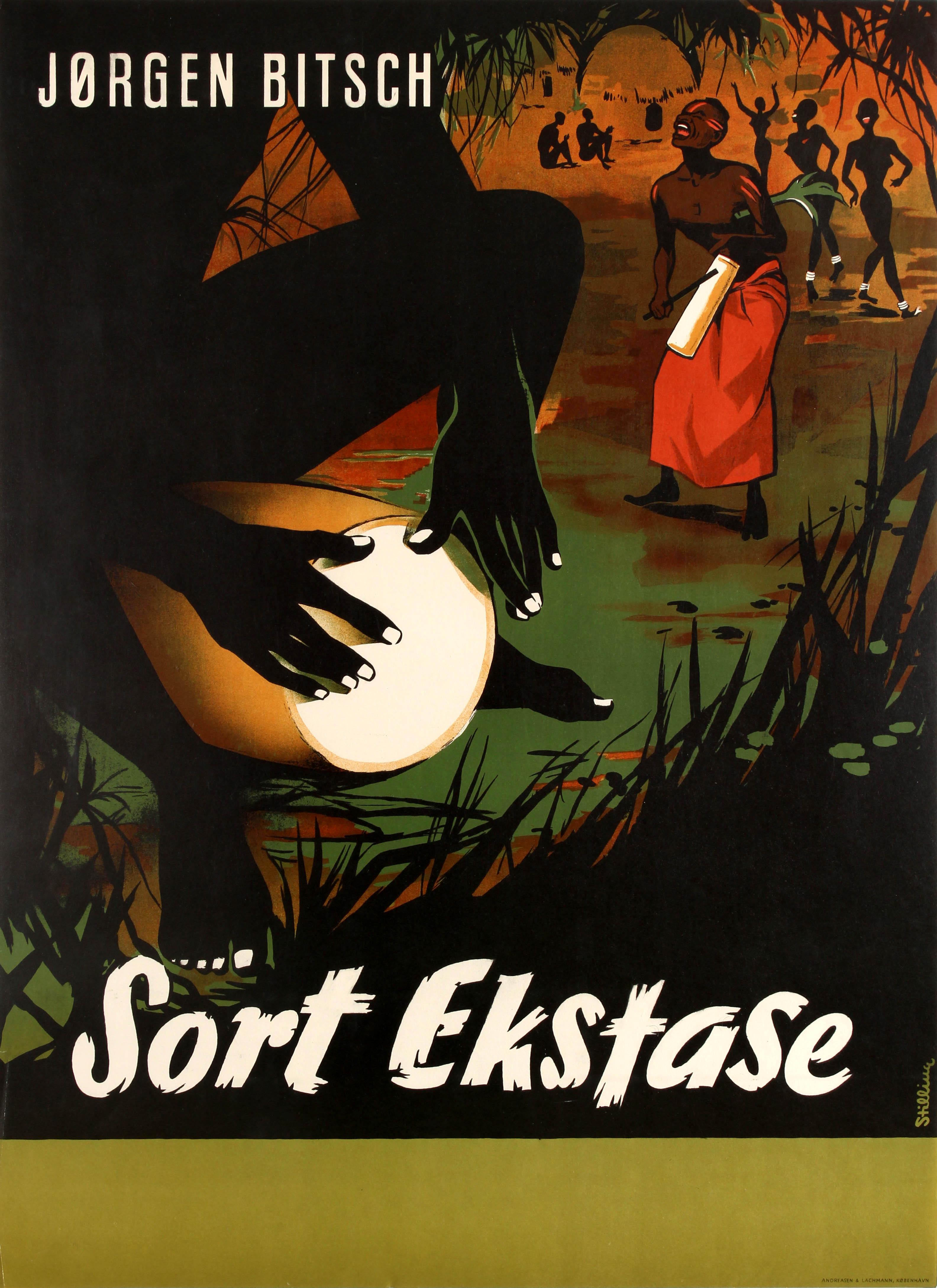 Movie Poster Sort Ekstase Africa Documentary Jorgen