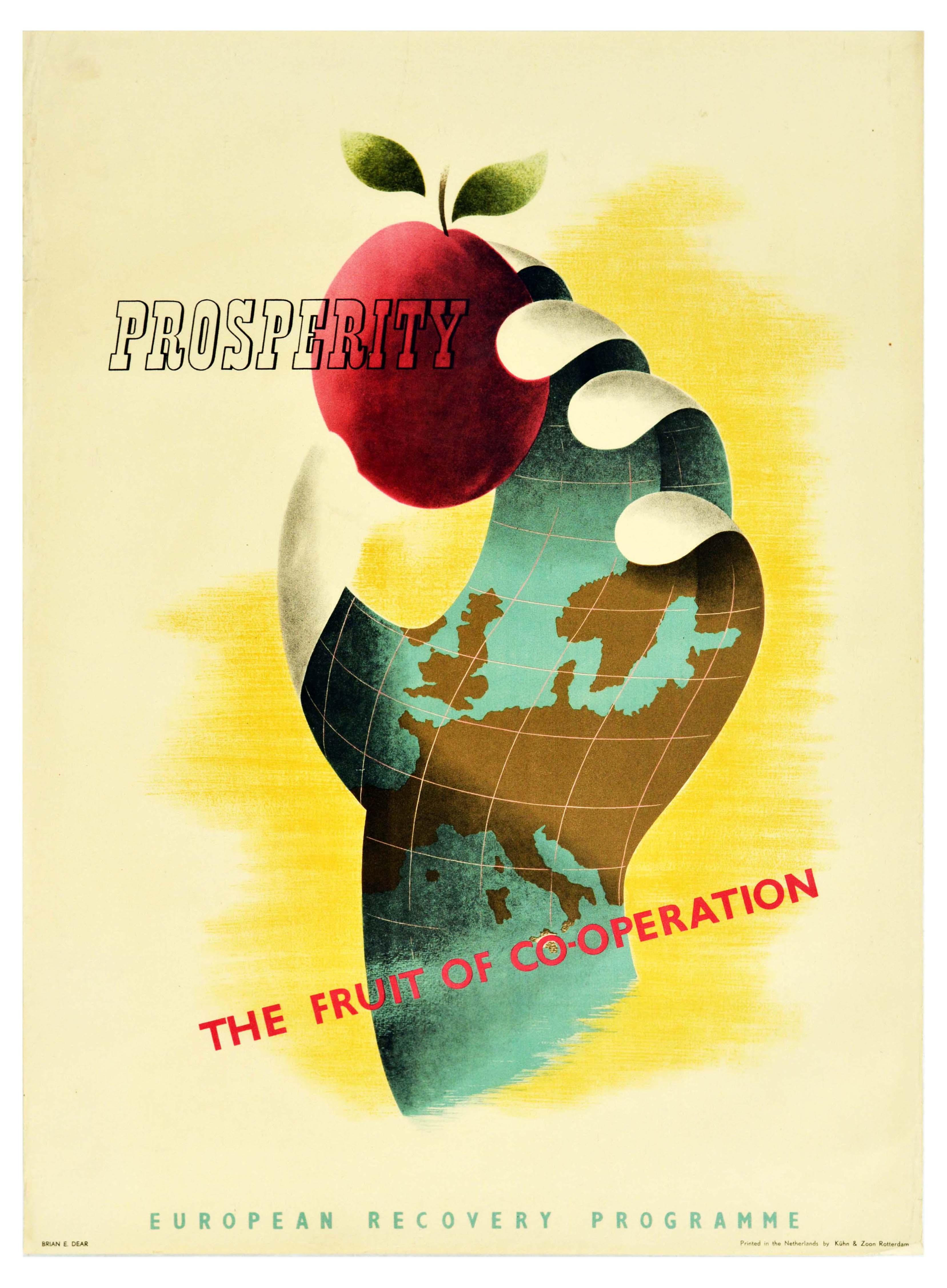 Propaganda Poster ERP Marshall Plan Prosperity Fruit of Cooperation