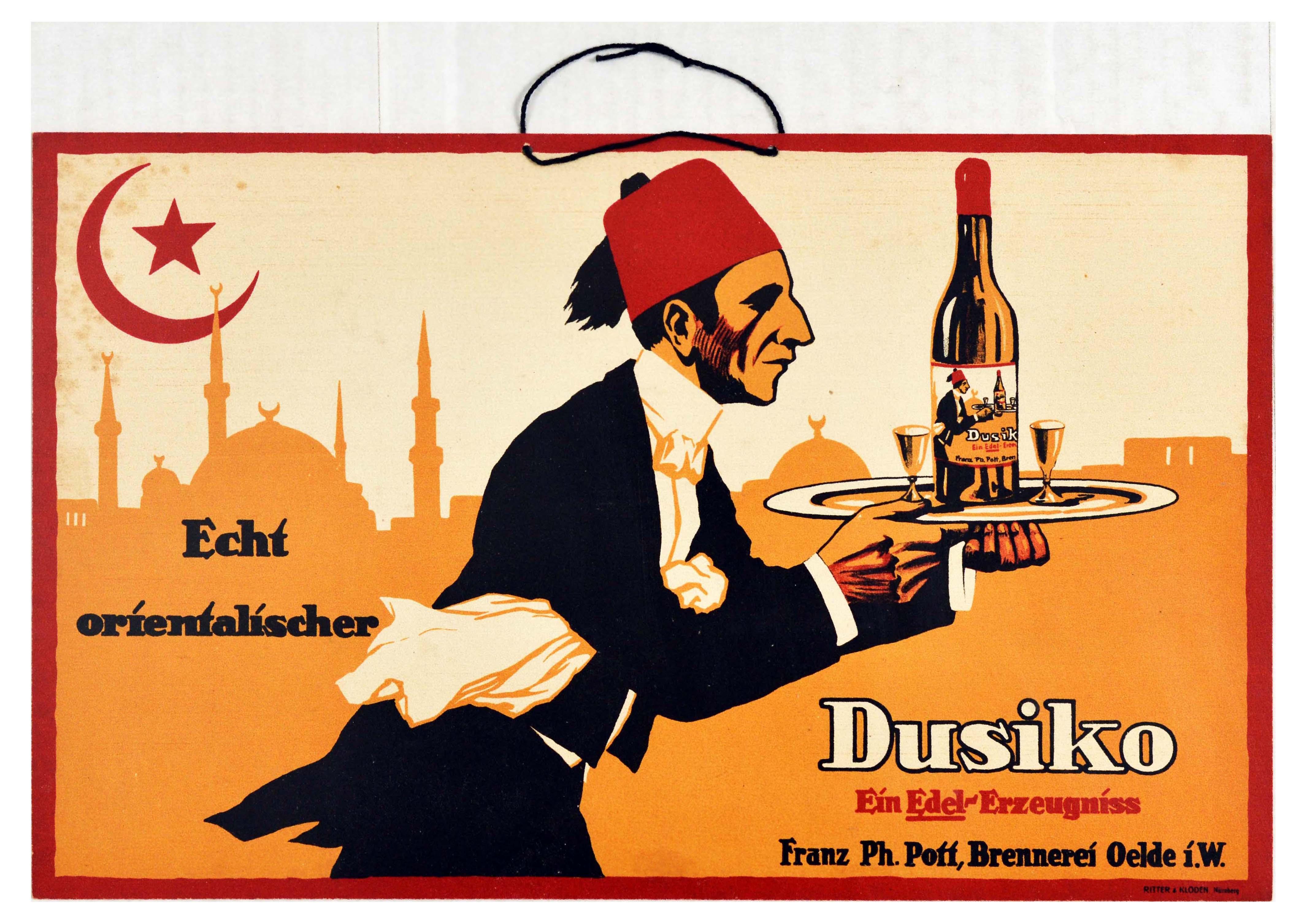 Advertising Poster Dusiko Anise Raki Turkey Alcohol