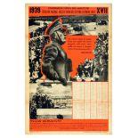 Propaganda Poster Benito Mussolini Italy Fascist Farmers Confederation