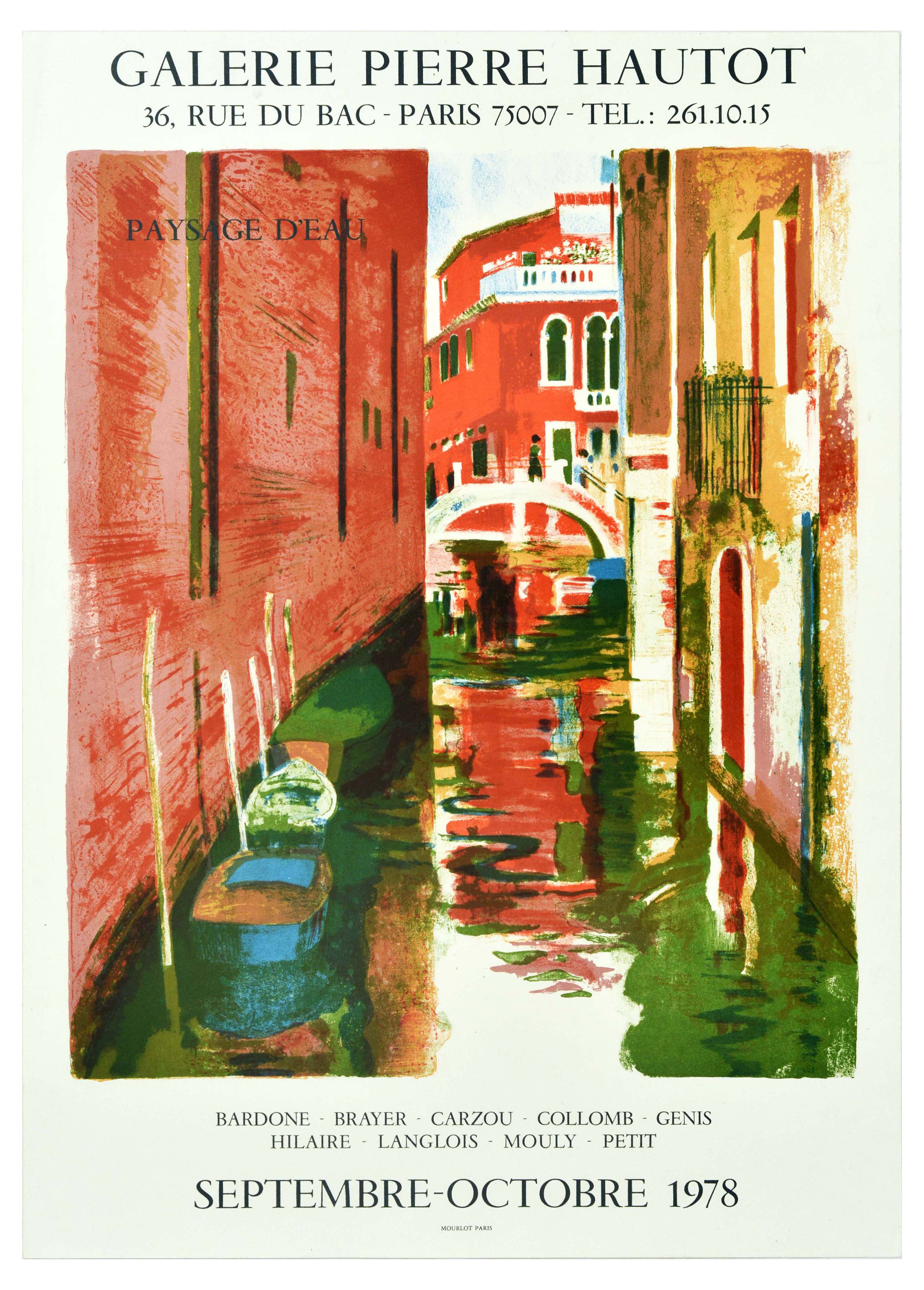 Advertising Poster Galerie Pierre Hautot Venice Canal