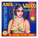 Advertising Poster Anil Garlands Fireworks India