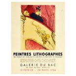 Advertising Poster Exhibition Toulouse Lautrec Matisse Picasso Manet Galerie du Bac