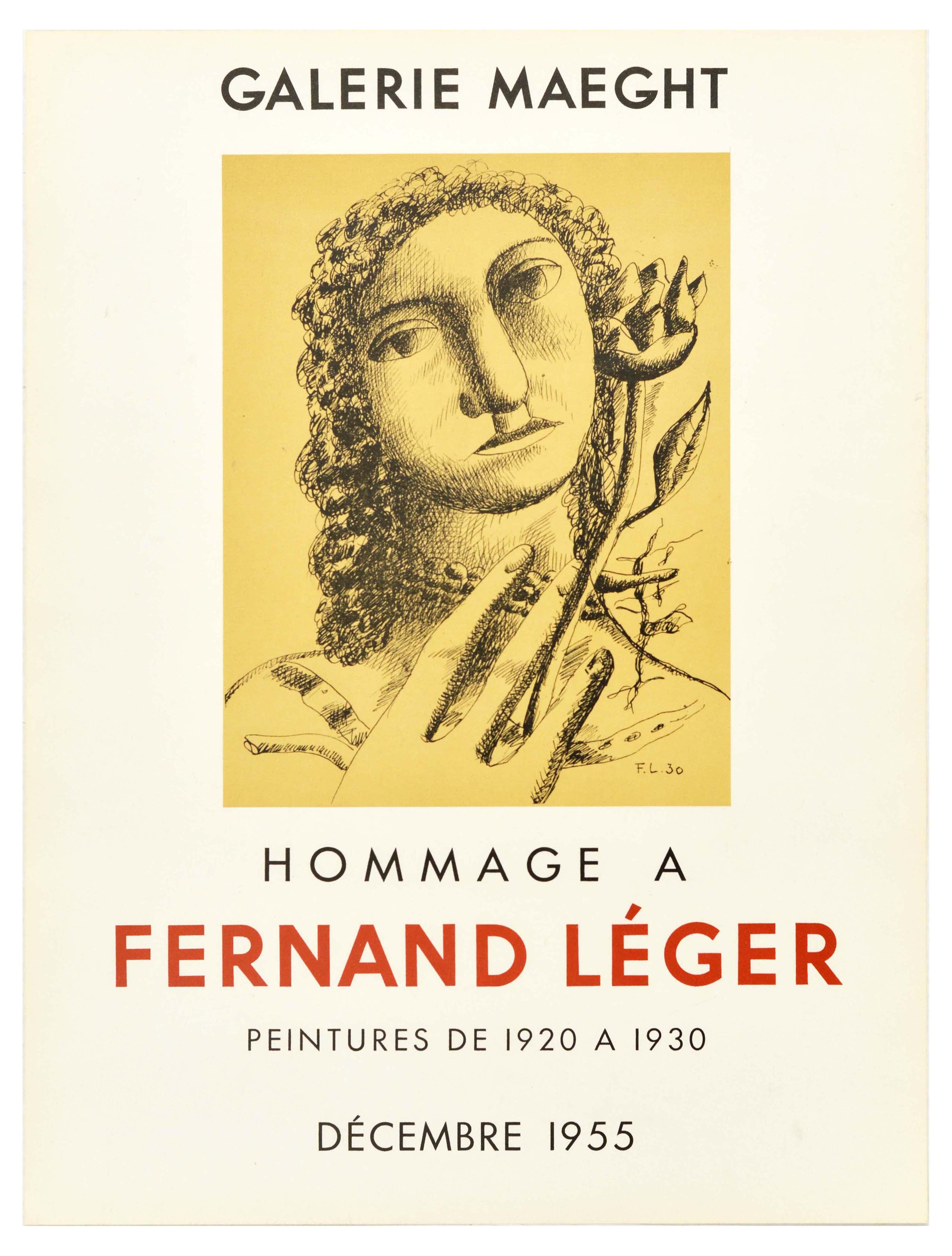 Advertising Poster Fernand Leger Galerie Maeght
