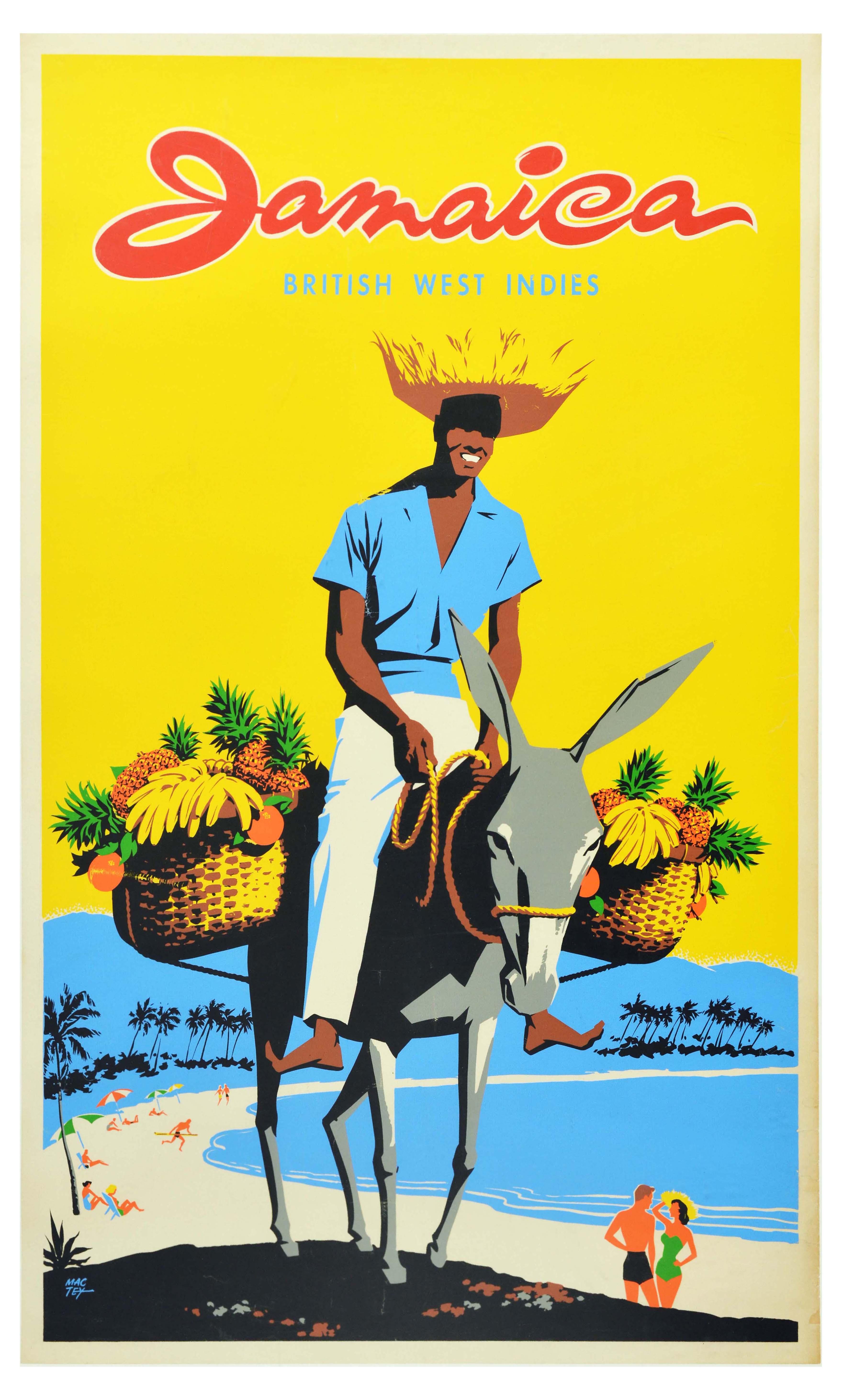 Travel Poster Jamaica Caribbean British West Indies