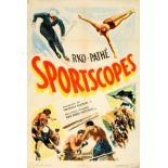 Sport Poster Skiing Boxing Diving Horce Racing Marlin