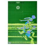 Sport Poster Munchen Olympic Games Otl Aicher Running Germany