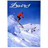 Sport Poster Parsenn Davos Ski Switzerland