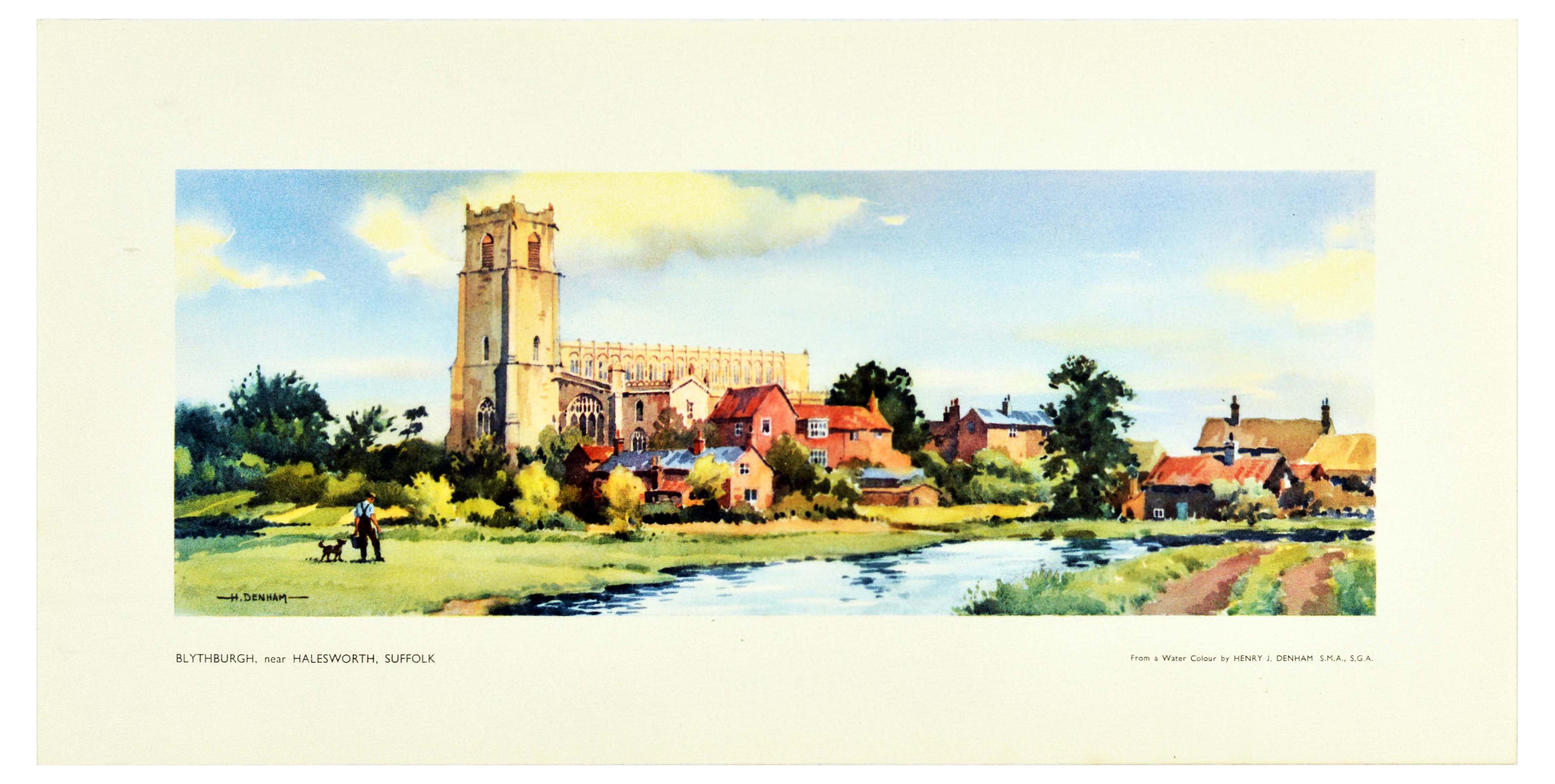 Set Travel Posters LNER Yorkshire Suffolk Essex Ilkley - Image 2 of 4