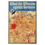 War Poster WWII The Blitz Allied Air Offensive Germany Aerial Bombing