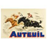 Sport Poster Horse Racing Auteuil Hippodrome France