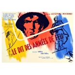 Movie Poster Chronicle of Flaming Years WWII Soviet Drama Cannes