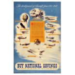 Advertising Poster National Savings Aircraft Development