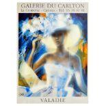 Advertising Poster Valadie Galerie Du Carlton Cannes France