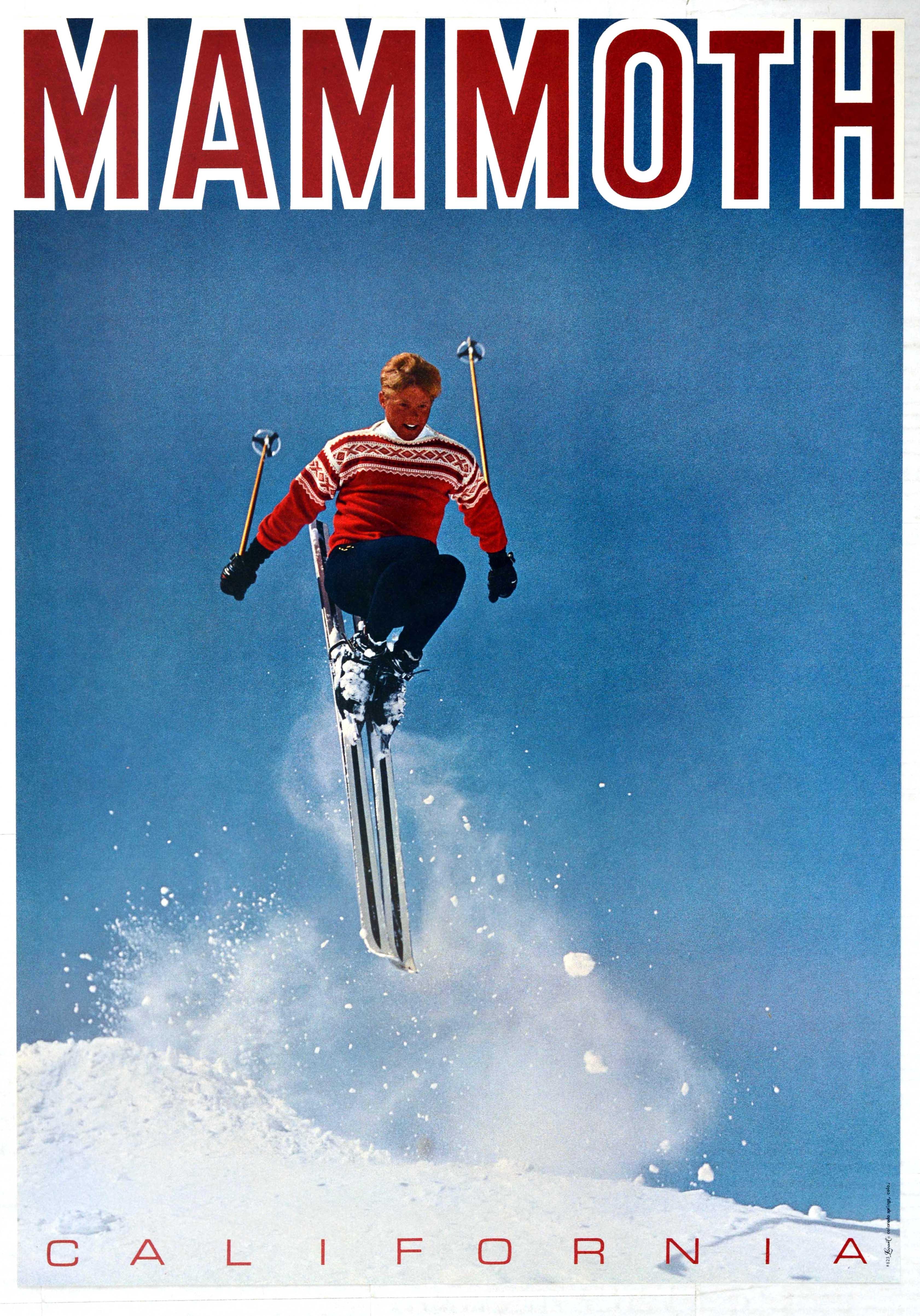 Sport Poster Mammoth Ski California USA