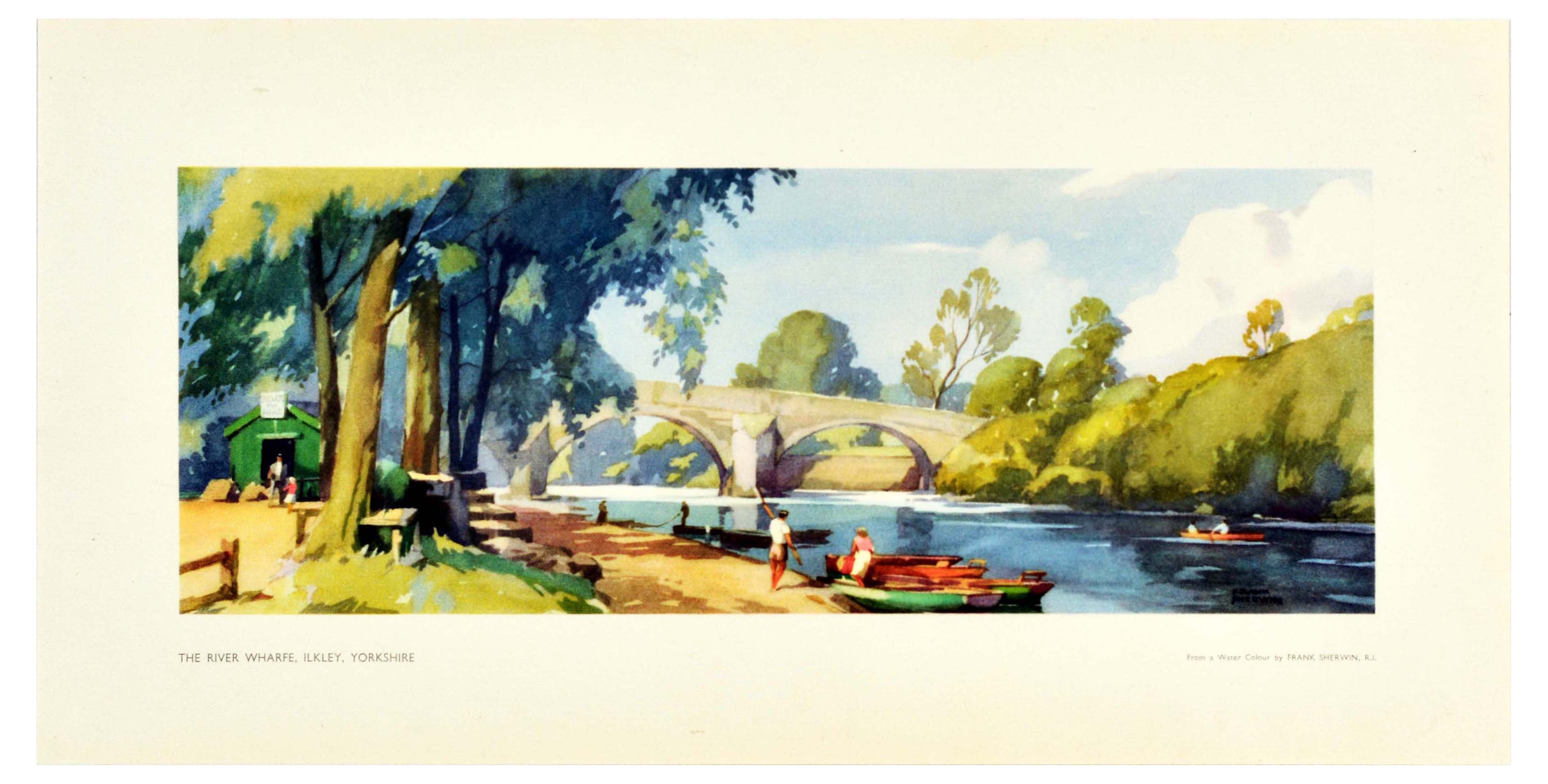 Set Travel Posters LNER Yorkshire Suffolk Essex Ilkley - Image 4 of 4