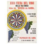 Advertising Poster Wine Festival Valtenesi Italy