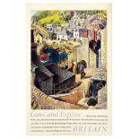 Travel Poster British Travel Fishing Villages Stanley Roy Badmin
