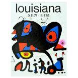 Advertising Poster Louisiana Joan Miro Surrealism Denmark