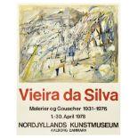 Advertising Poster Vieira de Silva Portugal Expressionism Art Informel Painter Denmark