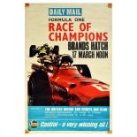 Advertising Poster Formula One Daily Mail Brands Hatch BRSCC