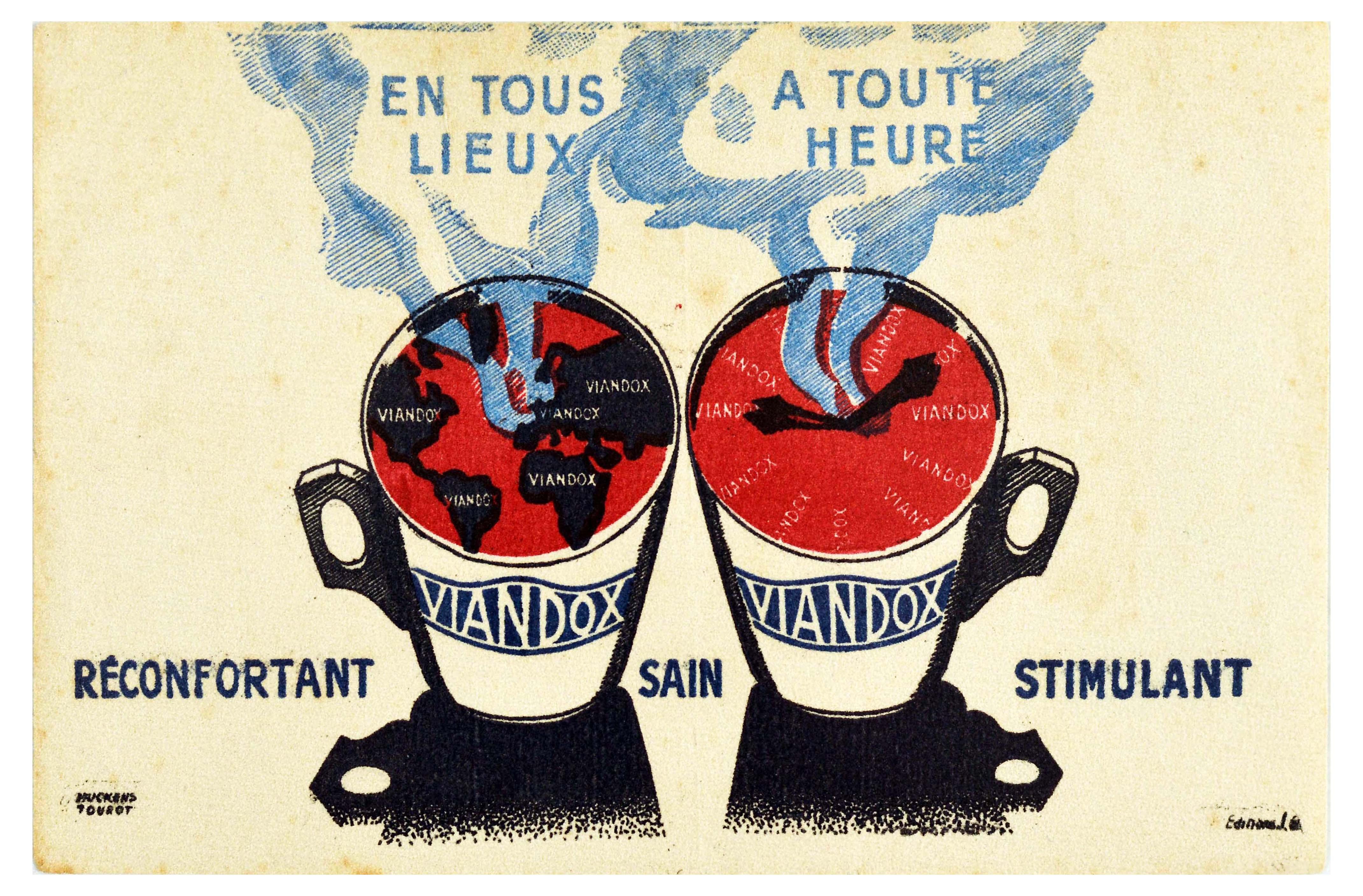 Set Advertising Posters Viandox Sauce Dairy Milk Cheese