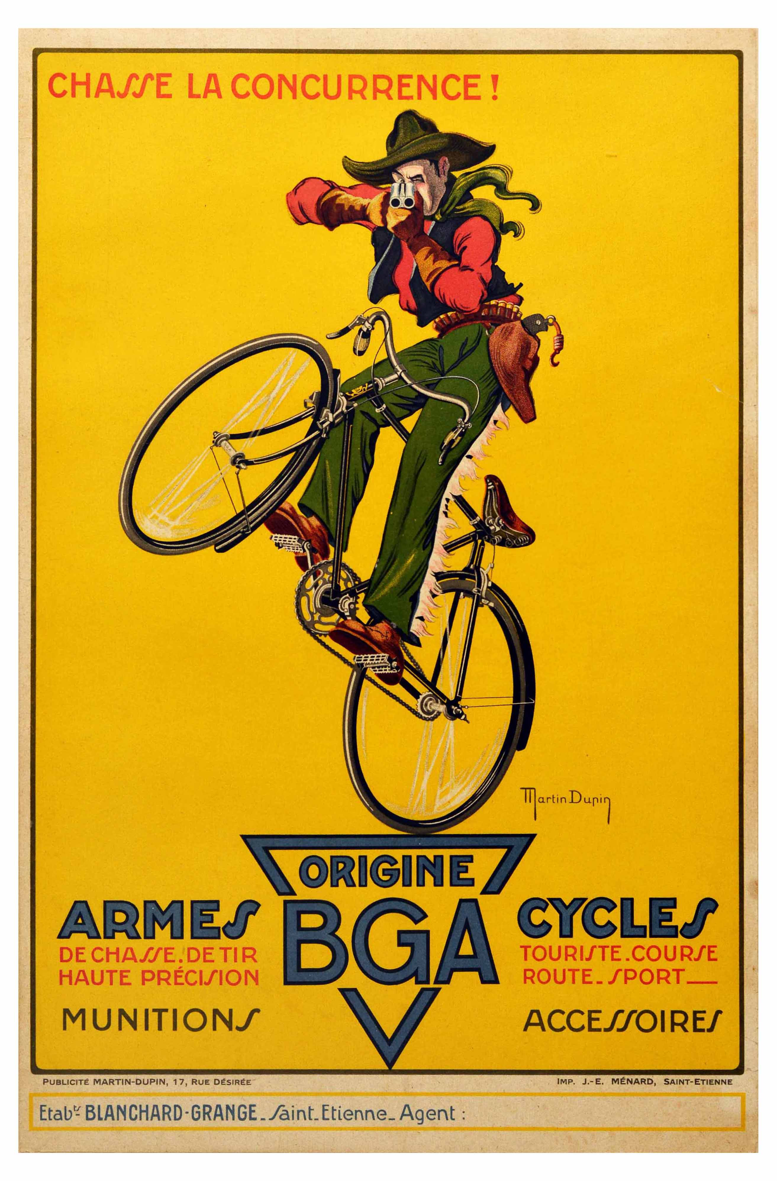 Advertising Poster BGA Cycles and Weapons Bicycle
