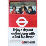 Advertising Poster London Transport Poster Buses Red Bus Rover Pass