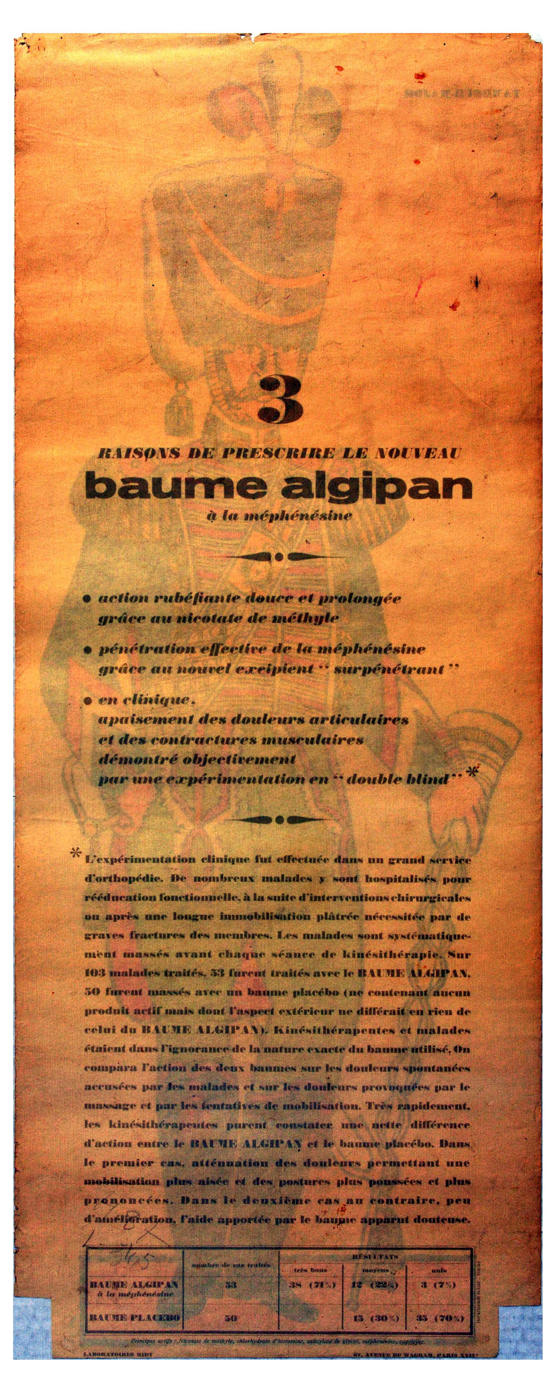 Advertising Poster Drum Major Tambour Major Baume Algipan French Army Uniform - Image 2 of 2