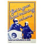 Propaganda Poster Local Training Scheme RoSPA Road Safety UK Motorcycle
