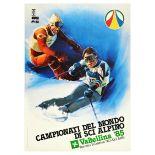 Sport Poster World Ski Championship Bormio S Caterina Italy
